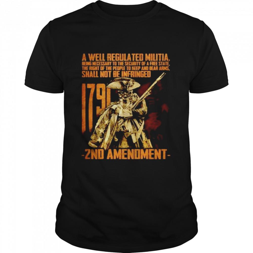 A well regulated militia 1971 2nd Amendment shirt Classic Men's T-shirt