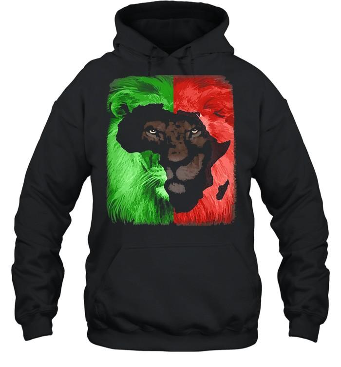 Jamaican Rasta Lion shirt Unisex Hoodie
