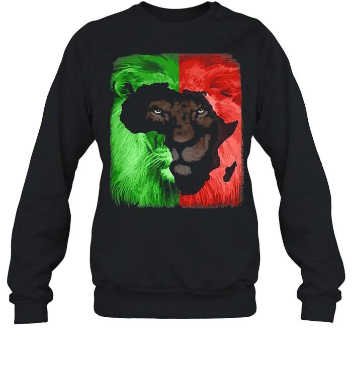 Jamaican Rasta Lion shirt Unisex Sweatshirt