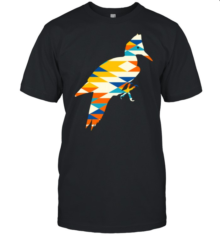 Woodpecker Silhouette Native American Earth Zodiac  Classic Men's T-shirt