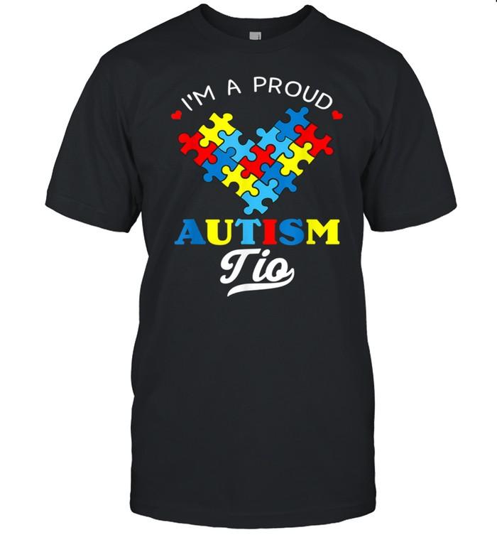 I'm A Proud Autism Tio Autism Awareness Uncle Nephew Niece shirt Classic Men's T-shirt