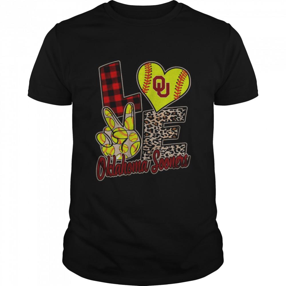 Love Oklahoma Sooners Softball Team shirt Classic Men's T-shirt