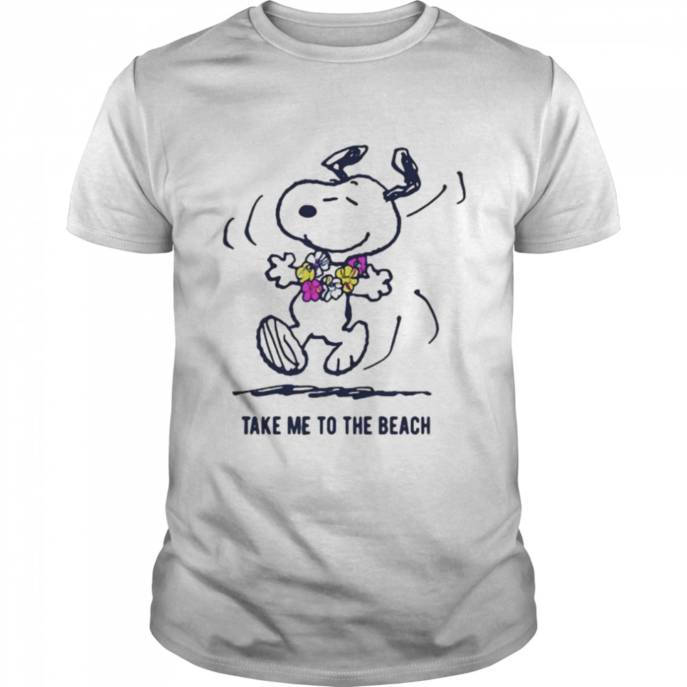 Take Me To The Beach Snoopy  Classic Men's T-shirt