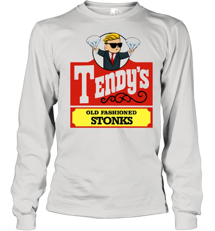 Tendys Stonks Old Fashioned Trader Investing HODL  Long Sleeved T-shirt