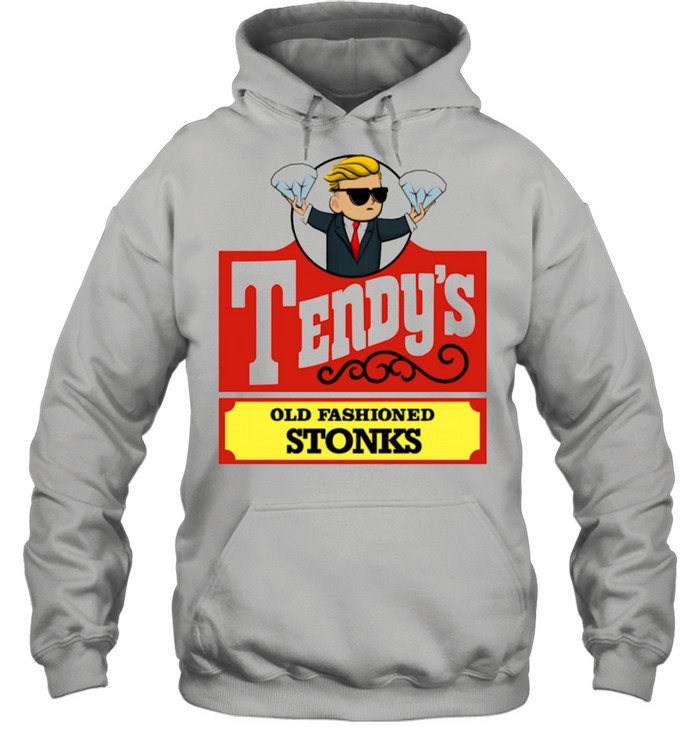 Tendys Stonks Old Fashioned Trader Investing HODL  Unisex Hoodie