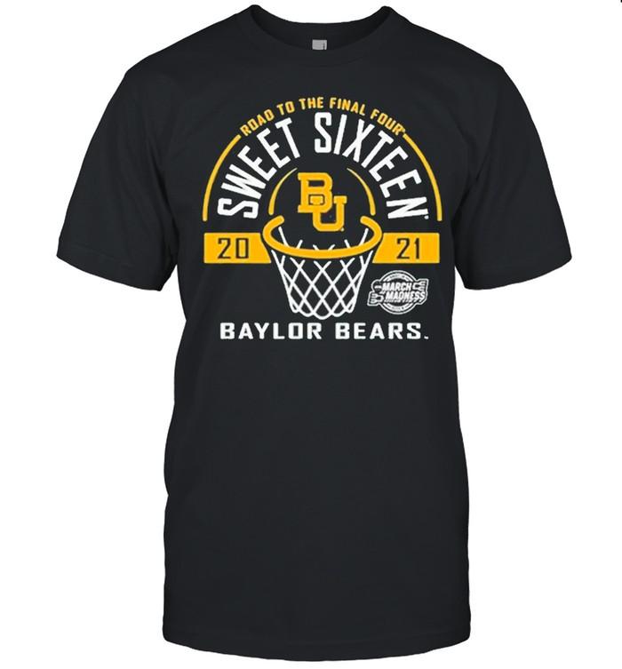 Baylor Bears Green Road To The Final Four 2021 Sweet Sixteen shirt Classic Men's T-shirt