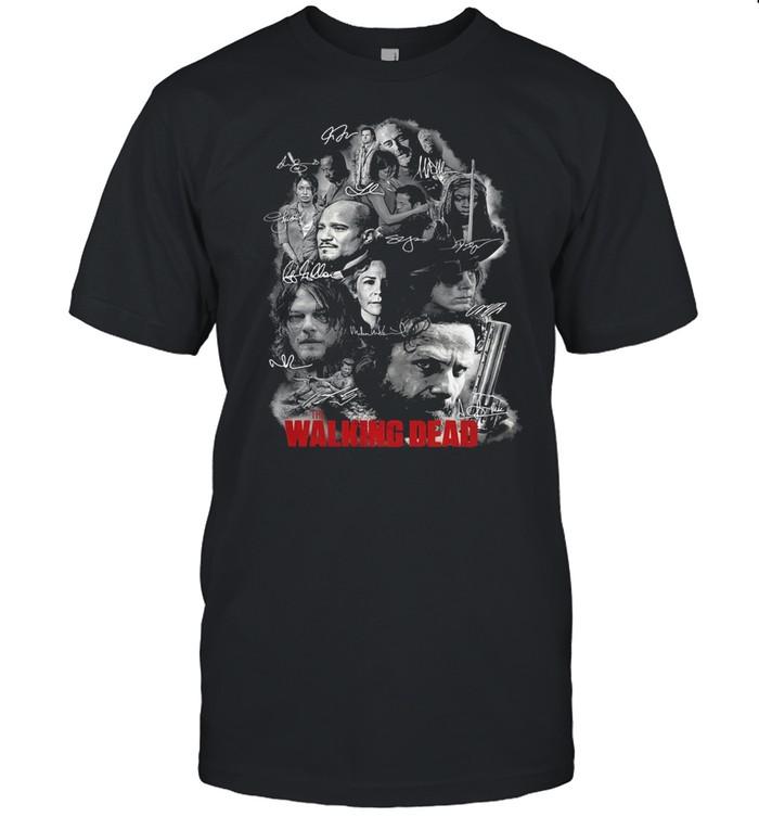 The Walking Dead Full Characters Signatures shirt Classic Men's T-shirt