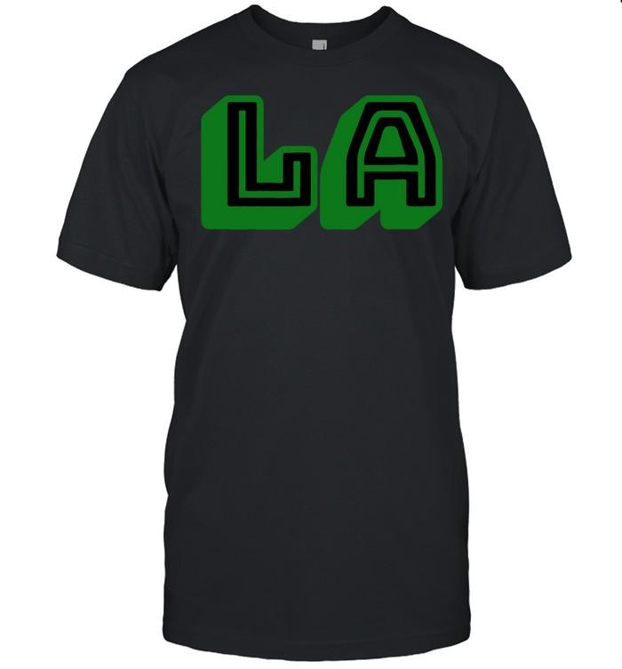 L.A Los Angeles LA Green shirt Classic Men's T-shirt