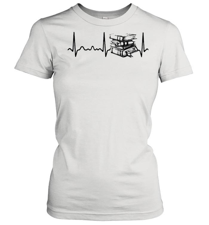 Heart Beat Book  Classic Women's T-shirt
