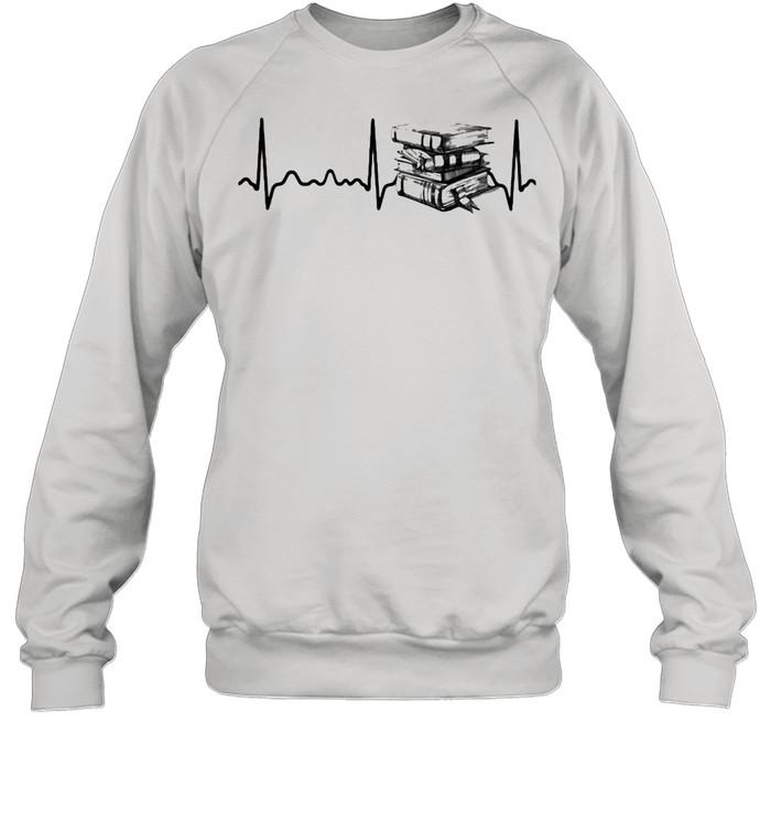 Heart Beat Book  Unisex Sweatshirt