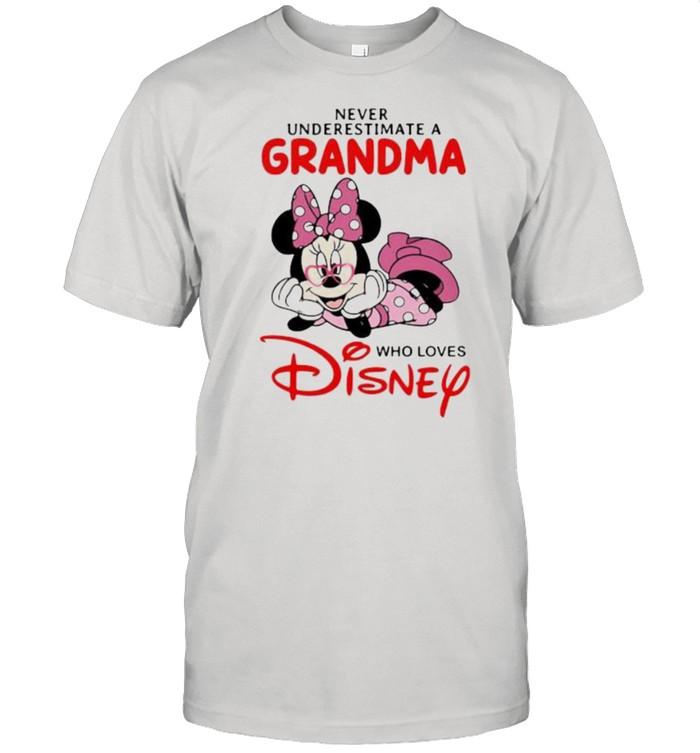 Never Underestimate A Grandma Who Loves Disney Minnie  Classic Men's T-shirt