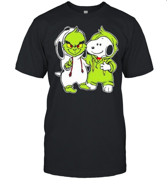 Snoopy And Grinch  Classic Men's T-shirt