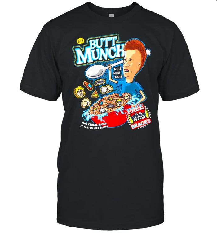 Beavis and Butthead Butt Munch Cereal Cornhole Wrap shirt Classic Men's T-shirt