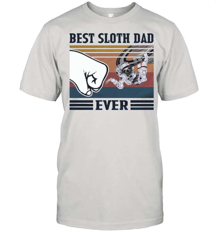 Best Space Sloth Dad Ever shirt Classic Men's T-shirt