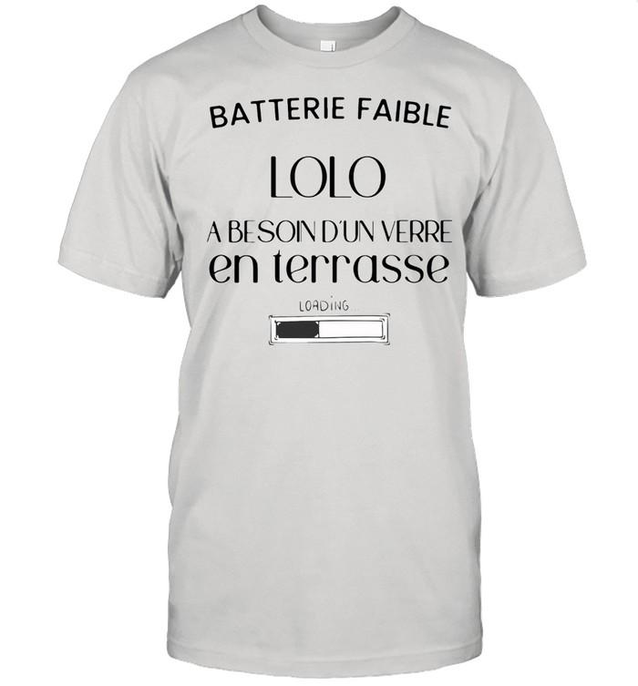 Batterie faible lolo a besoin d'un verre en terrasse shirt Classic Men's T-shirt
