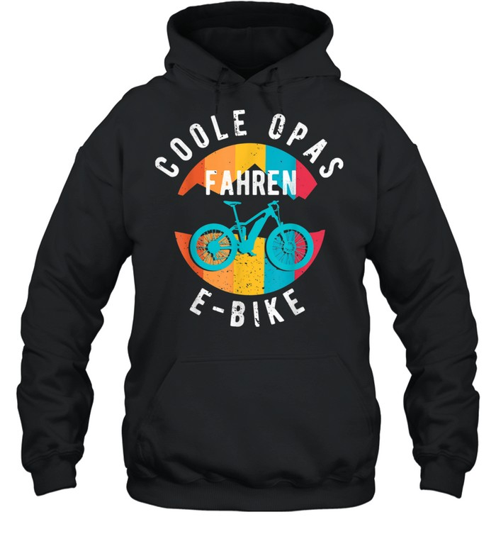 Herren Coole Opas fahren EBike EBike Elektrofahrrad Großvater shirt Unisex Hoodie