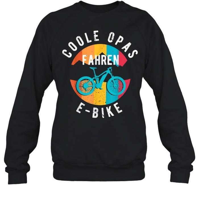Herren Coole Opas fahren EBike EBike Elektrofahrrad Großvater shirt Unisex Sweatshirt