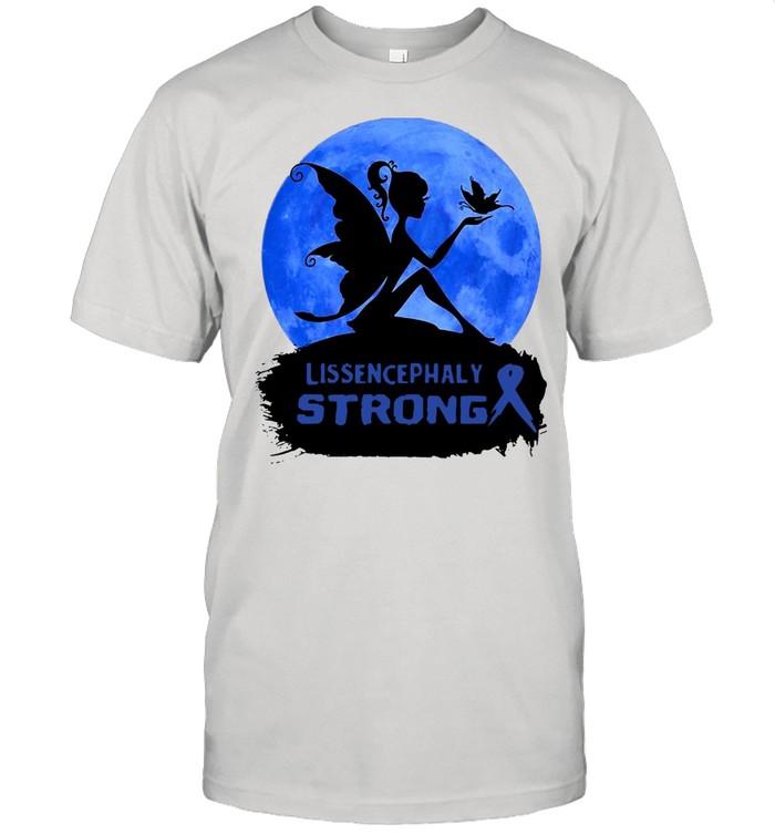Lissencephaly Awareness Blue Ribbon  Classic Men's T-shirt
