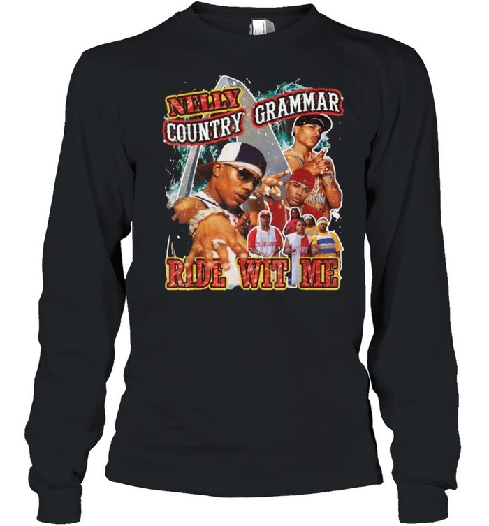 Vintage Nellys Country Grammar Ride Wit Me Rapper T- Long Sleeved T-shirt
