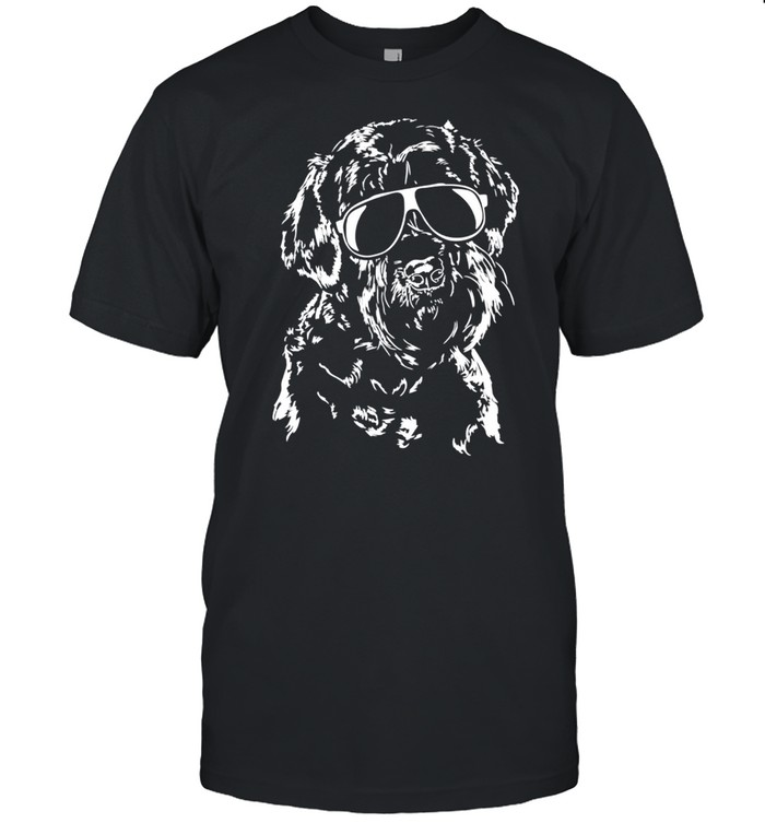 Proud Giant Schnauzer sunglasses cool dog shirt Classic Men's T-shirt