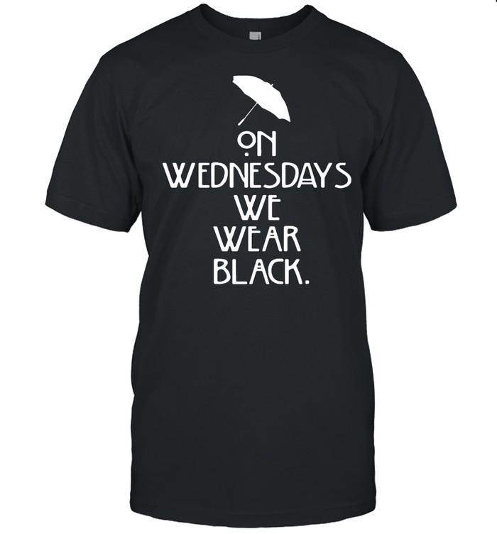 Umbrella On Wednesdays We Wear Black  Classic Men's T-shirt