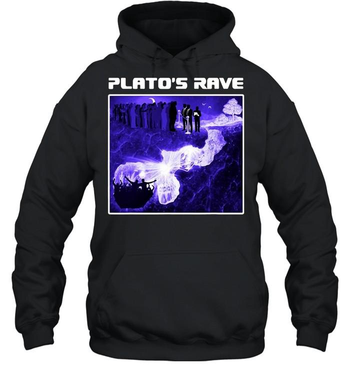Raver Philosopher Plato's Rave Cave Allegory T-shirt Unisex Hoodie