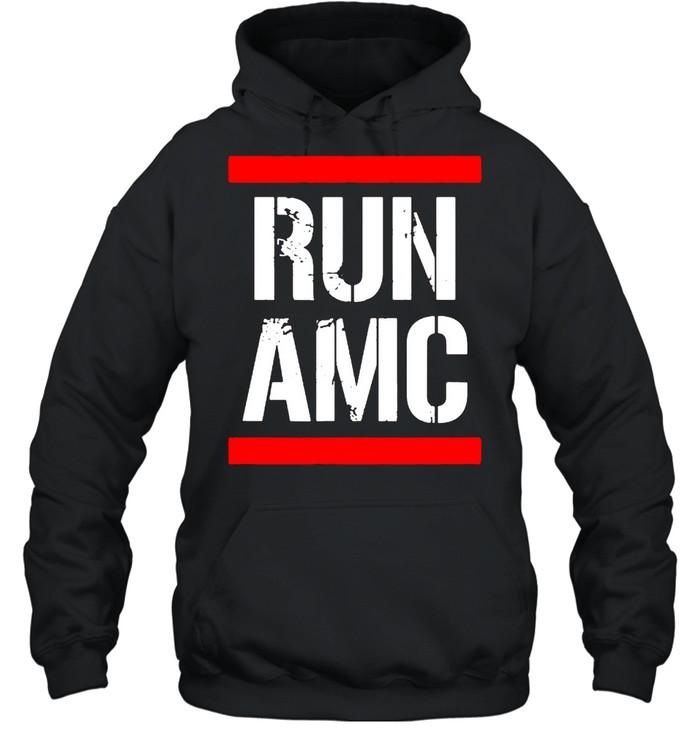 Run AMC Stock Meme Crypto  Unisex Hoodie
