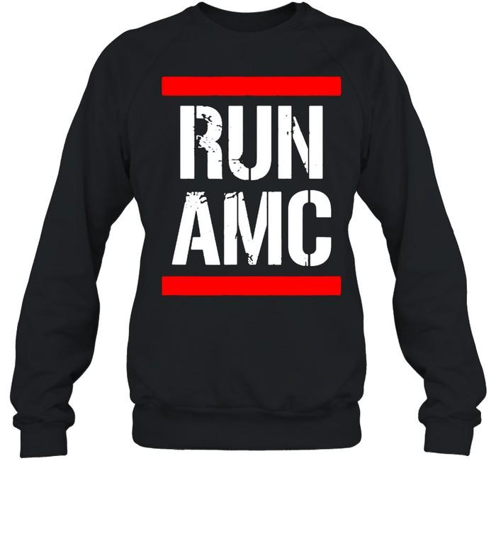 Run AMC Stock Meme Crypto  Unisex Sweatshirt