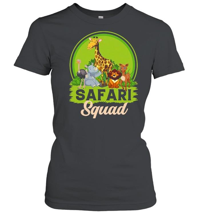 Safari Squad Zoo Animals T-shirt Classic Women's T-shirt