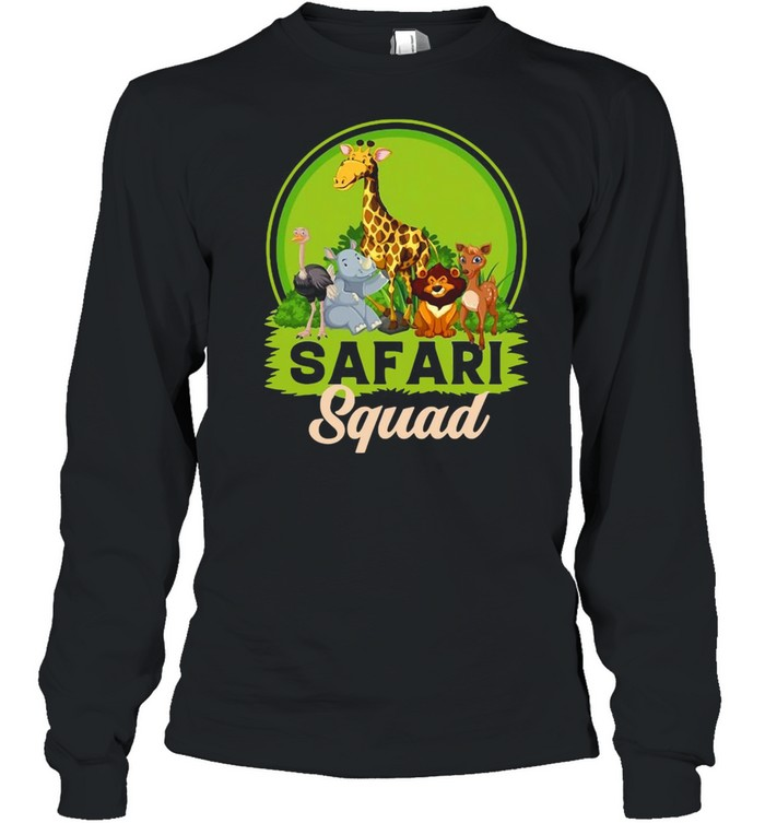 Safari Squad Zoo Animals T-shirt Long Sleeved T-shirt