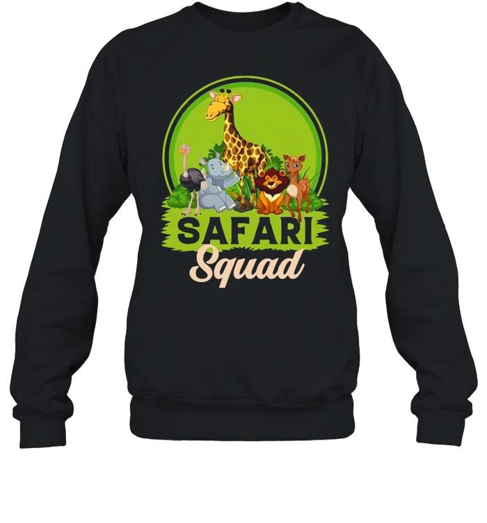 Safari Squad Zoo Animals T-shirt Unisex Sweatshirt