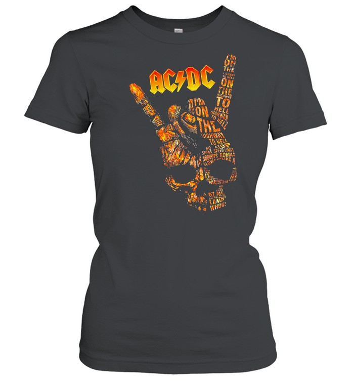AC DC Im On The Highway To Hell Long Sleeve shirt Classic Women's T-shirt