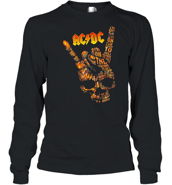 AC DC Im On The Highway To Hell Long Sleeve shirt Long Sleeved T-shirt