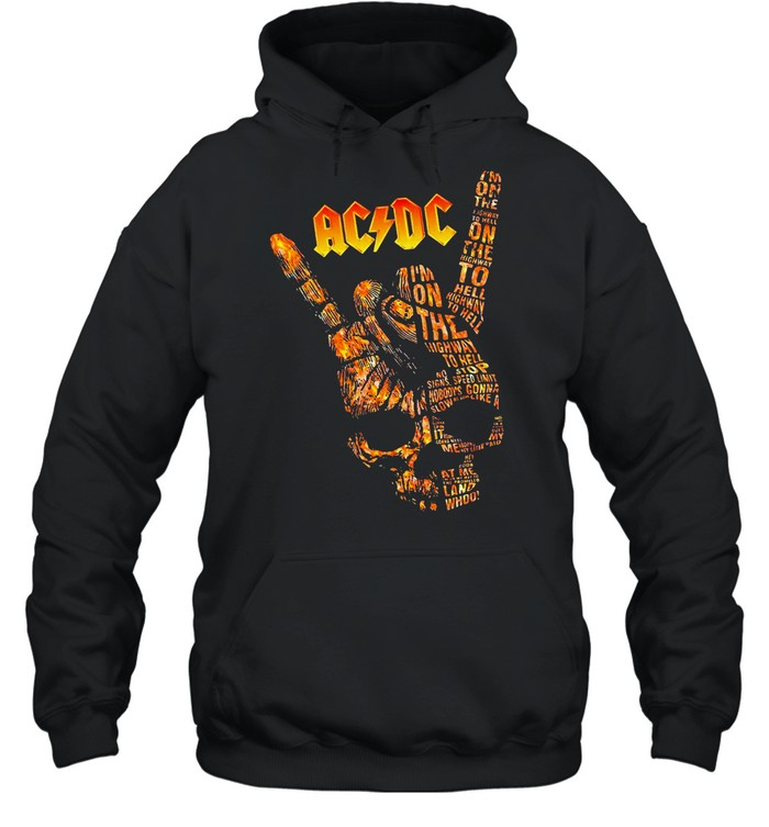 AC DC Im On The Highway To Hell Long Sleeve shirt Unisex Hoodie
