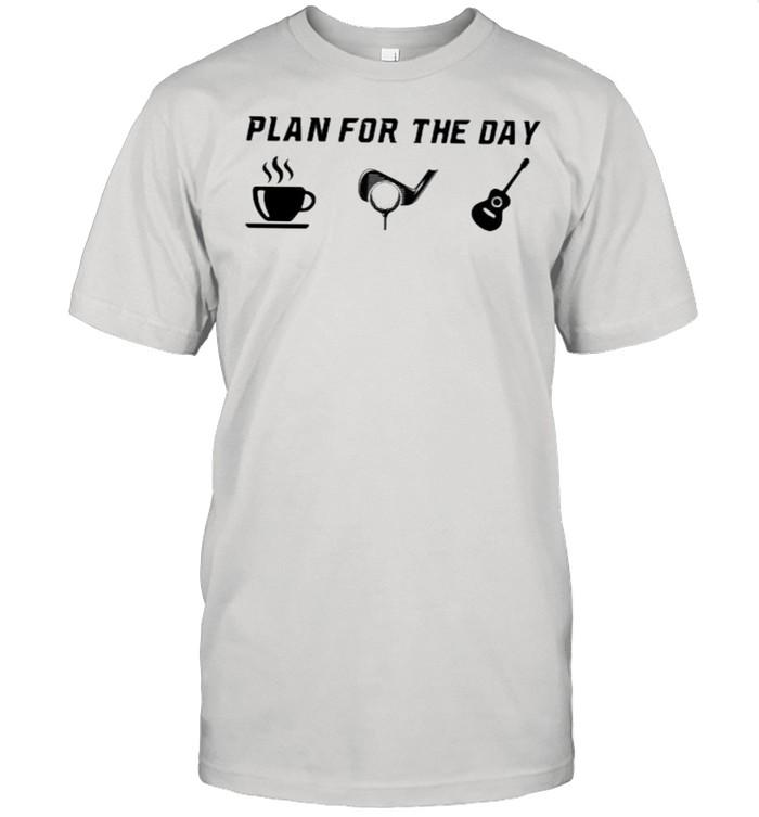 Plan For the Day Coffee Golf Guitars shirt Classic Men's T-shirt