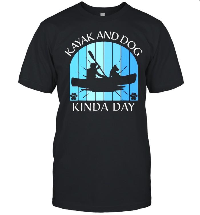 Kayak Kayaking Dog Boating Summer Clothing Graphics T-shirt Classic Men's T-shirt