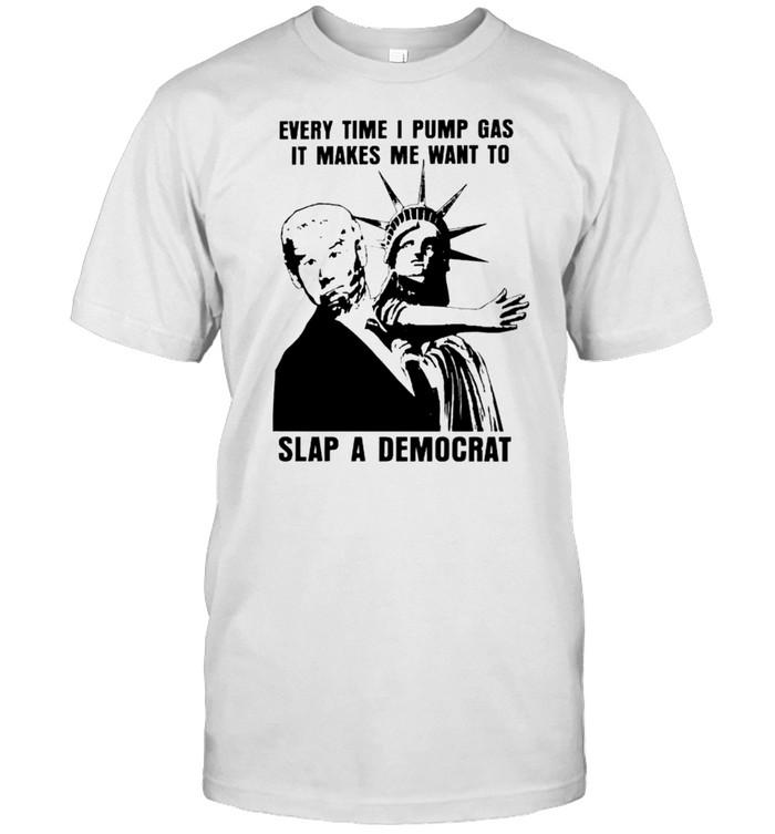 Liberty slap Biden every time I pump gas it makes me want to slap a Democrat shirt Classic Men's T-shirt