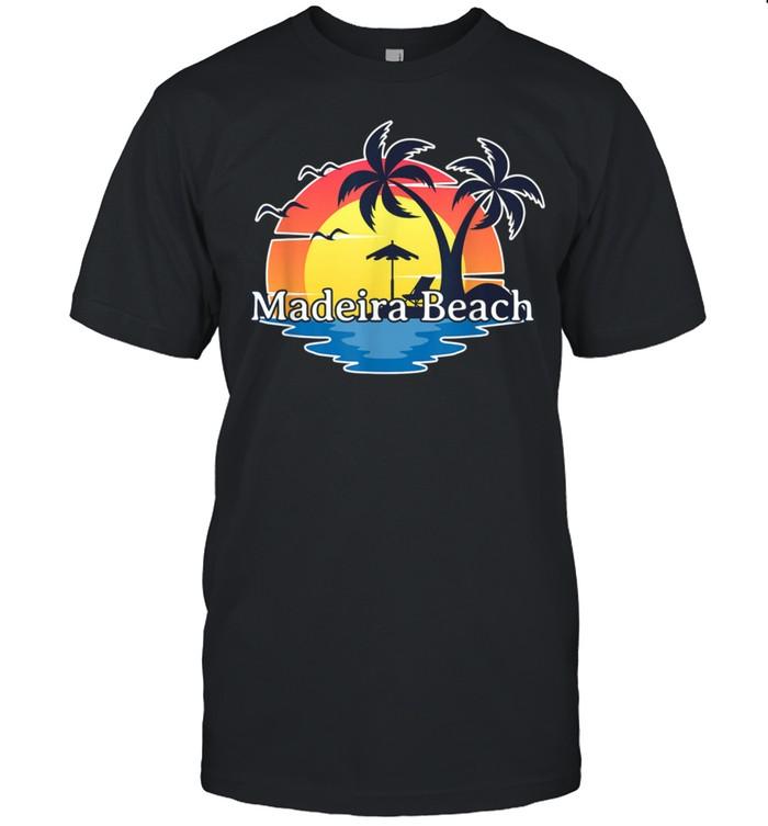 Madeira Beach Florida Retro Sunset Vacation shirt Classic Men's T-shirt