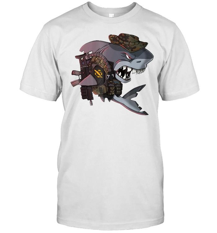 German Bundeswehr Kampfschwimmer Combat Diver Shark T-shirt Classic Men's T-shirt