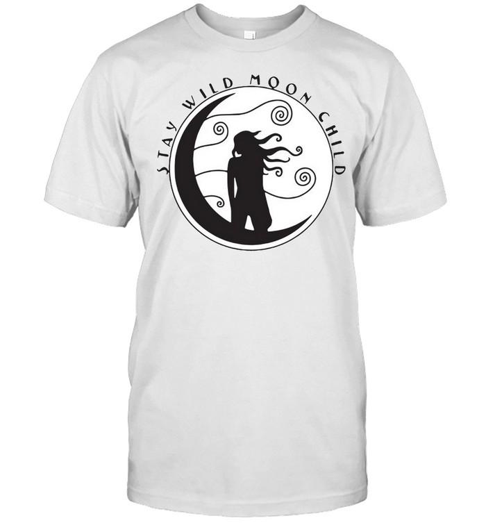 Girl Stay Wild Moon Child Sticker T-shirt Classic Men's T-shirt