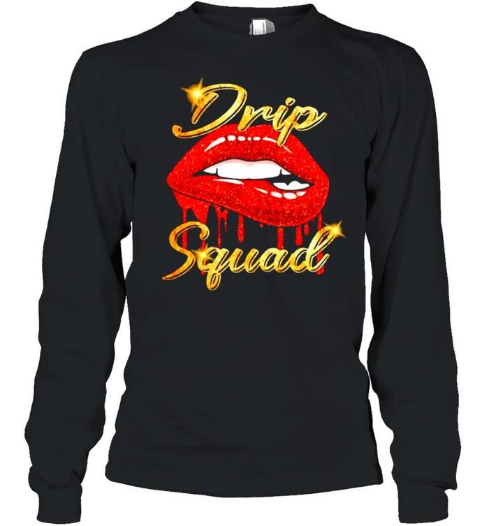 Drip Squad Lip  Long Sleeved T-shirt