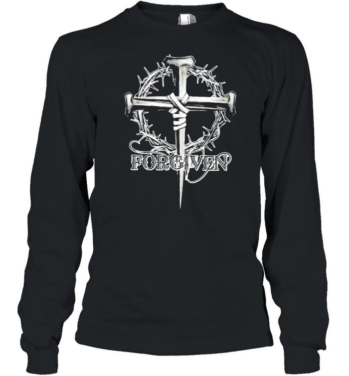 Forgiven floral christan cross shirt Long Sleeved T-shirt