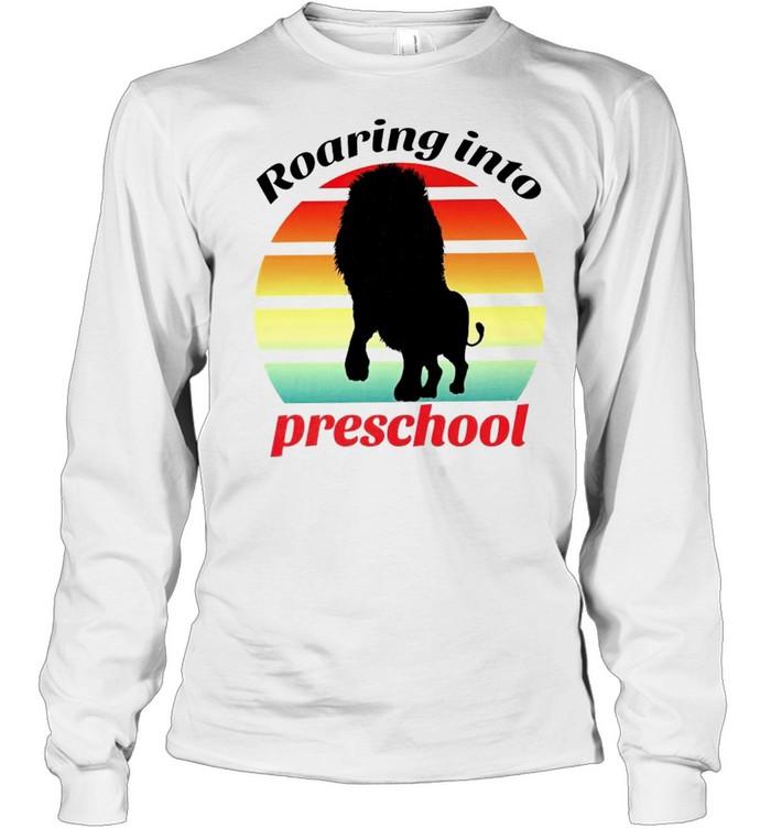Lion roaring into preschool shirt Long Sleeved T-shirt