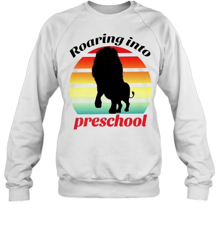 Lion roaring into preschool shirt Unisex Sweatshirt