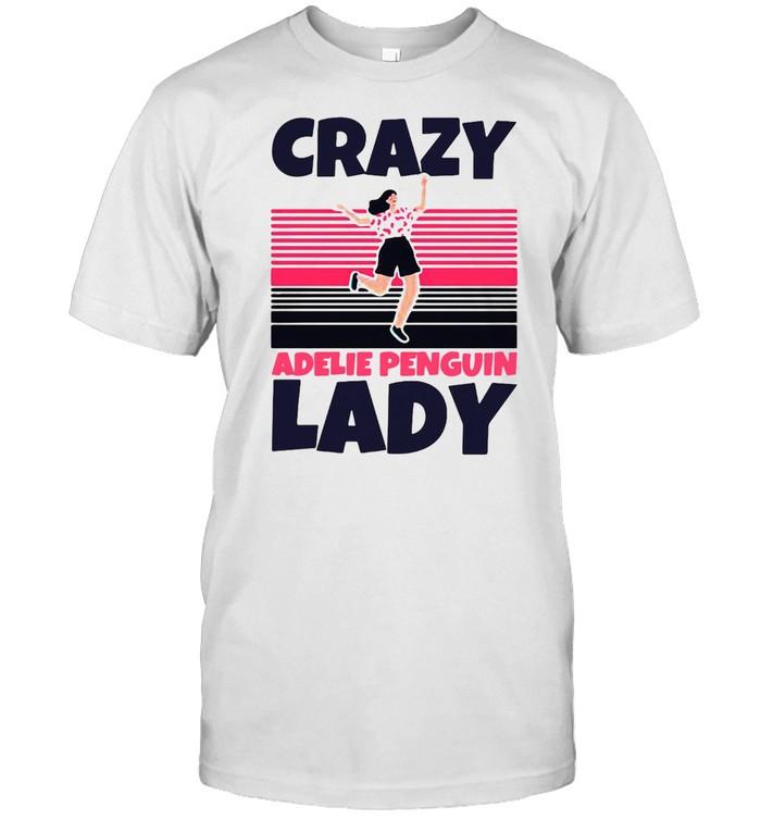 Crazy Adelie Penguin Lady Vintage Retro T-shirt Classic Men's T-shirt