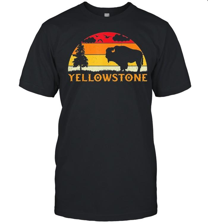 Retro yellowstone national park us bison buffalo vintage shirt Classic Men's T-shirt