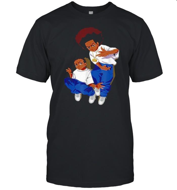 Boondock Riley-Huey Black Sitcom African American Cartoon T- Classic Men's T-shirt