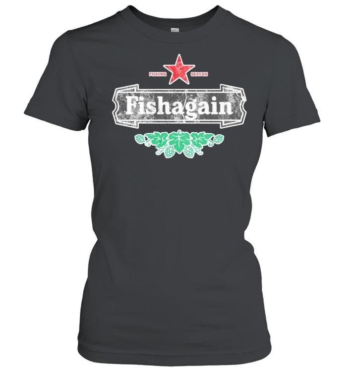 Fishing season fishagain shirt Classic Women's T-shirt