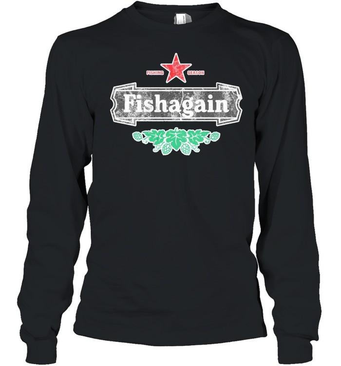 Fishing season fishagain shirt Long Sleeved T-shirt