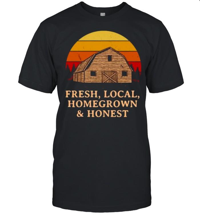 Fresh Local Homegrown & Honest Farmer Gardening Rancher Gardener T- Classic Men's T-shirt